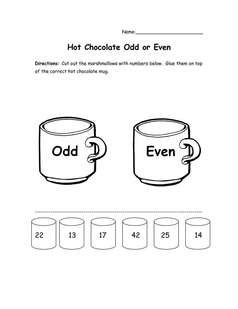 Odd And Even Numbers Worksheets Marshmallow