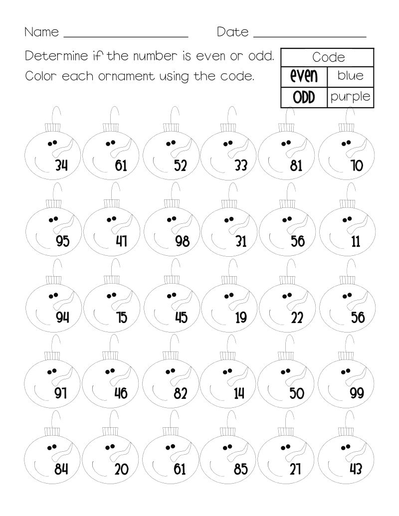 Odd And Even Worksheet Practice