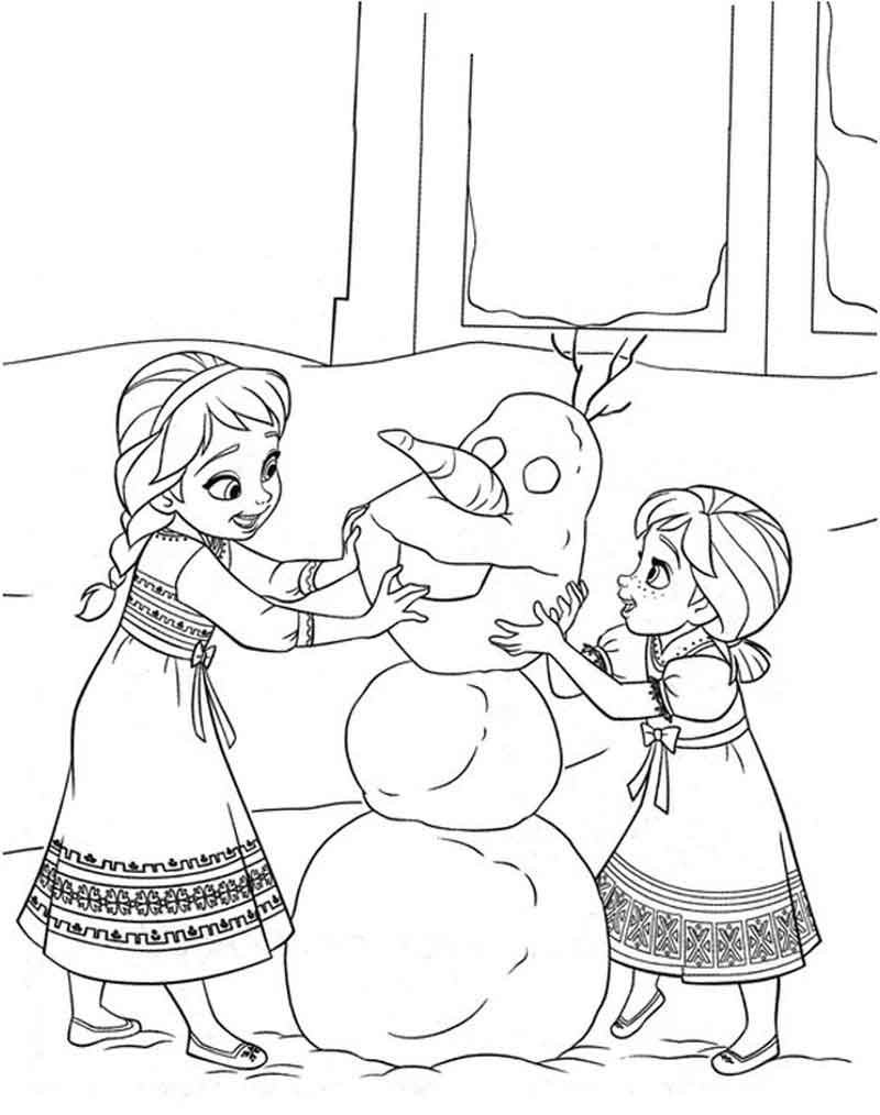 Olaf Coloring Page Do You Wanna Build A Snowman