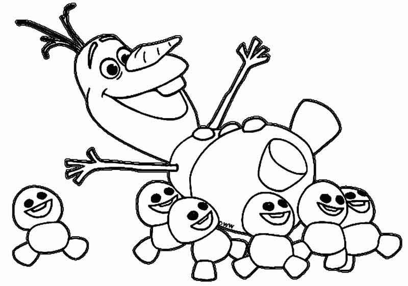 Olaf Coloring Pages Printables