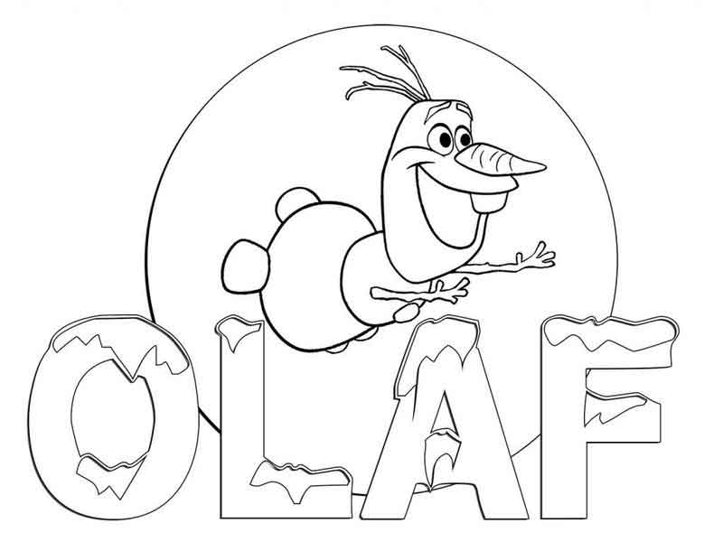Olaf Coloring Sheets