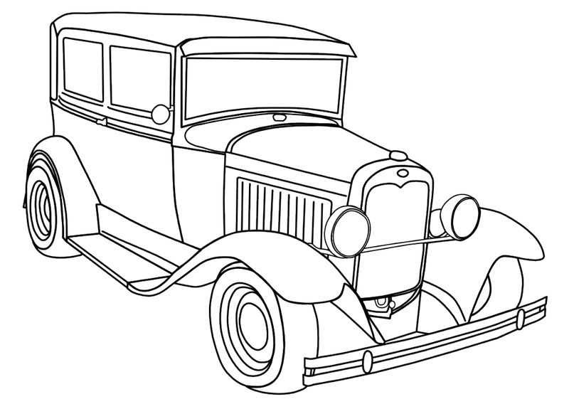 Old Antique Car Coloring Pages