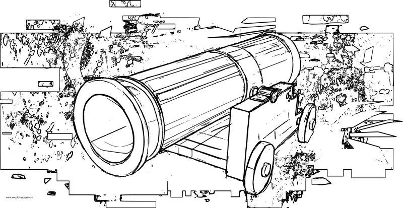 Old Cannon Vehicle Coloring Page