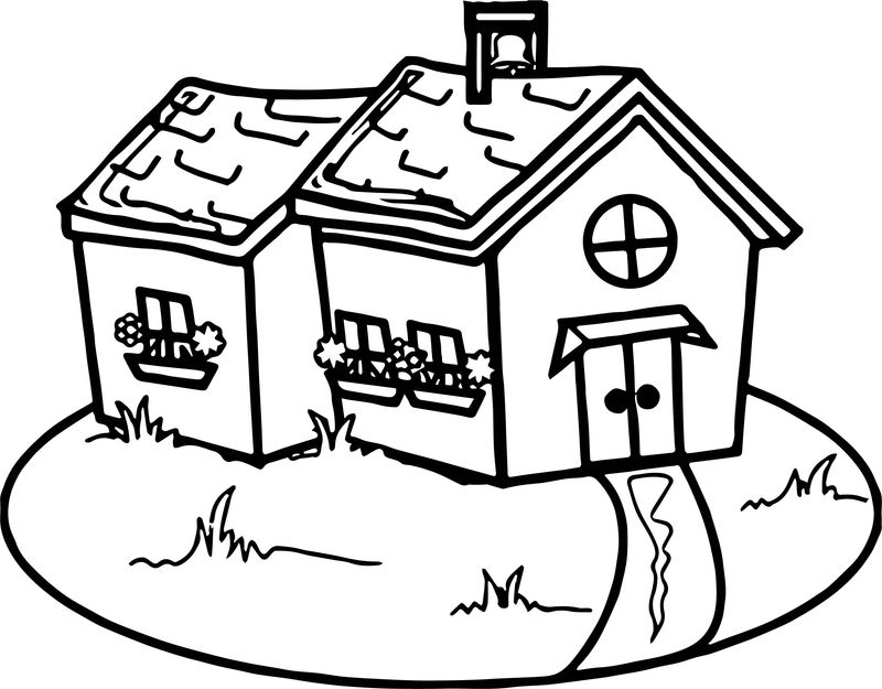 Old School House Coloring Page