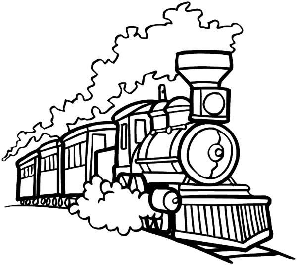 Old Train Coloring Pages