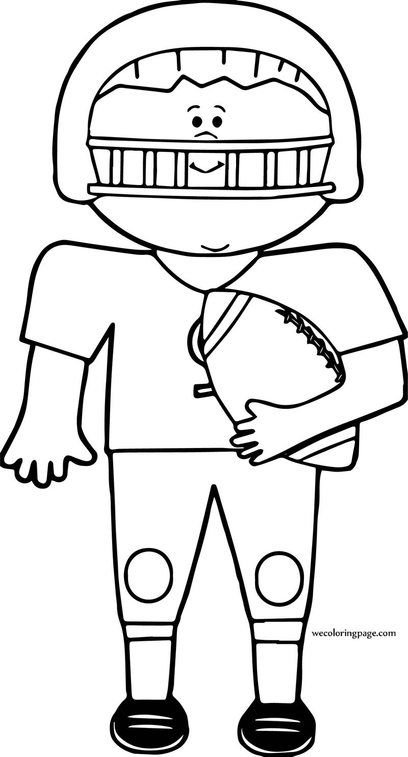 On Boy Football Coloring Page