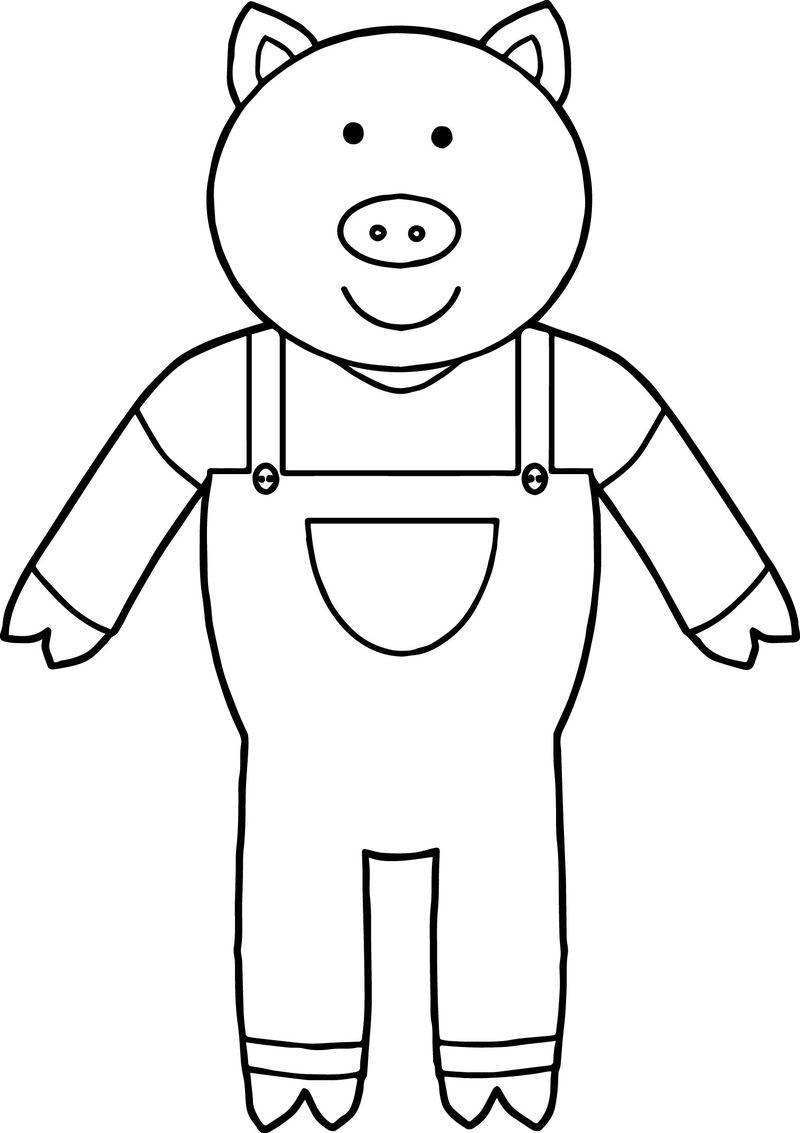 One 3 Little Pigs Coloring Page