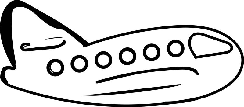 One Airplane Coloring Page