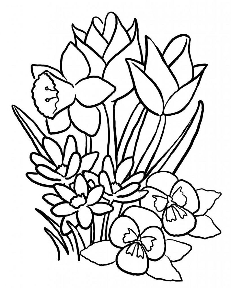 Online Coloring Games For Kids Flowers