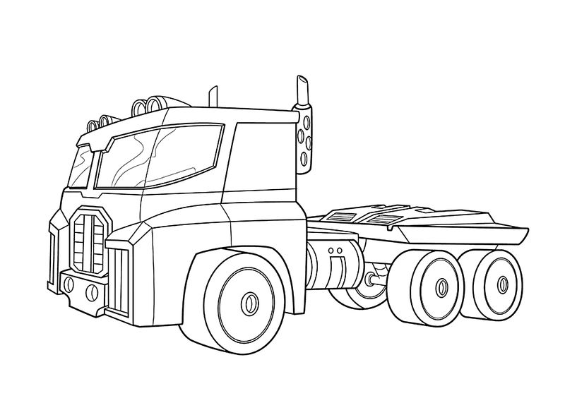 Optimus Prime Truck Coloring Pages 1