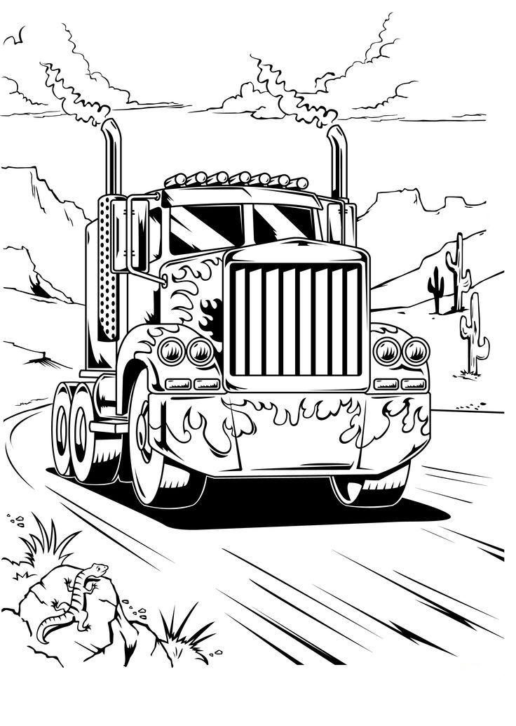 Optimus Prime Truck Transformers Coloring Pages