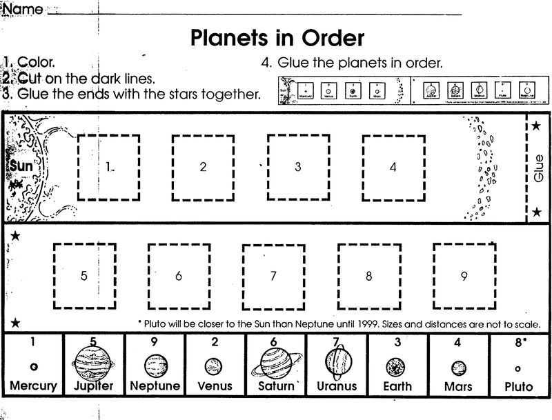 Outer Space Worksheets For Kids Activity