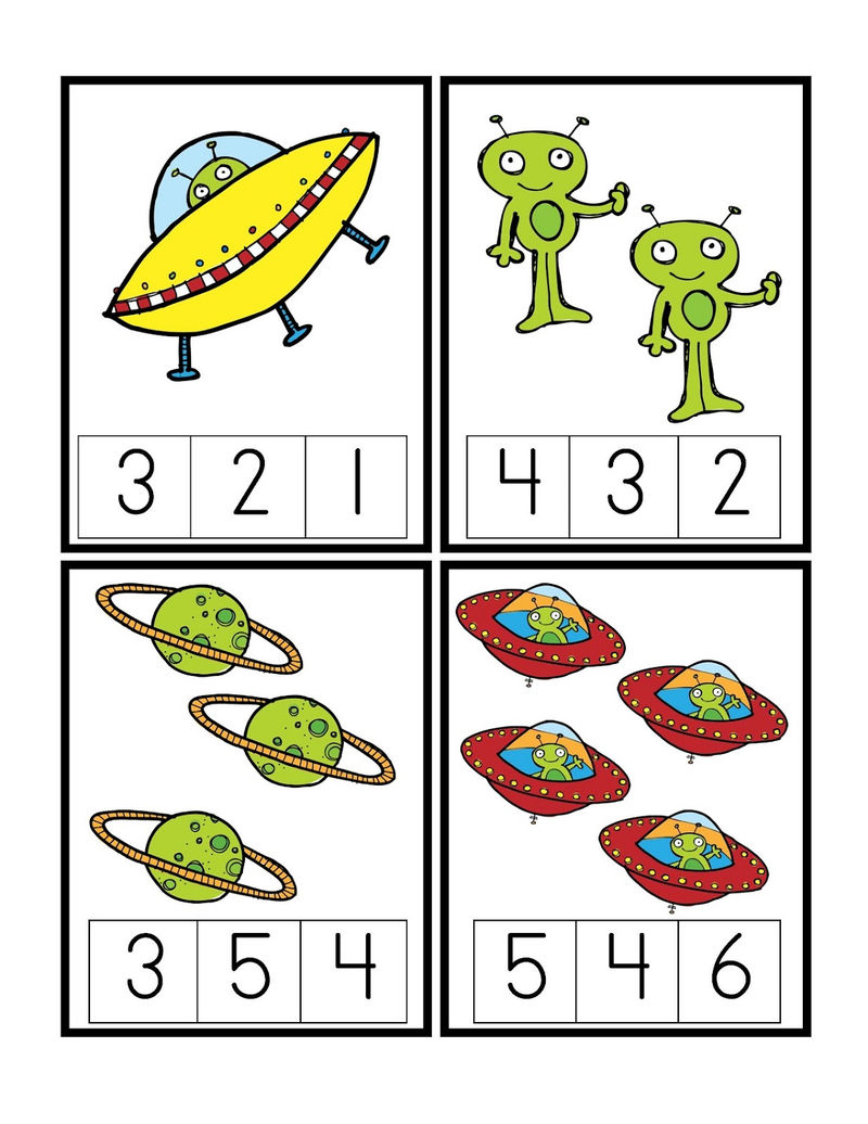 Outer Space Worksheets For Kids Counting