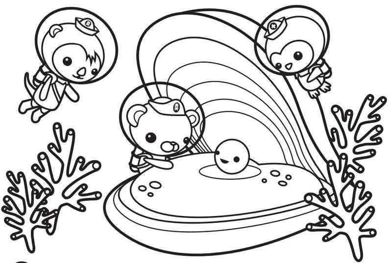 Oyster And Pearl Octonauts Coloring Pages