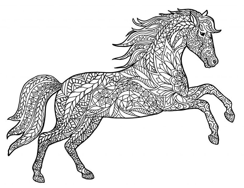 Pattern Horse Coloring Pages
