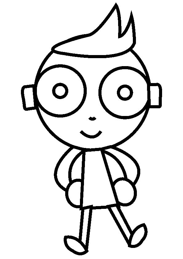 Pbs Kids School Children Coloring Page