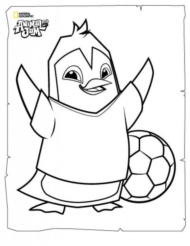 Penguin Animal Jam Coloring Pages Free Coloring Pages