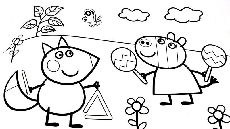 Peppa Pig Coloring Sheet To Save