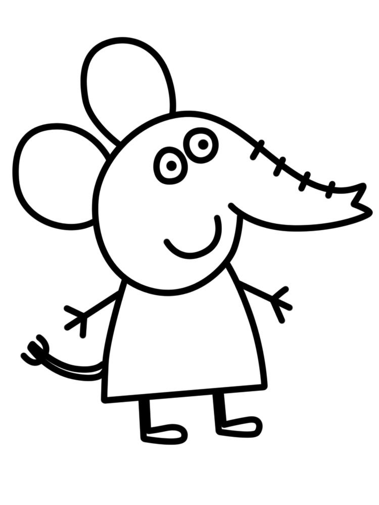 Peppa Pig Elephant Coloring Page