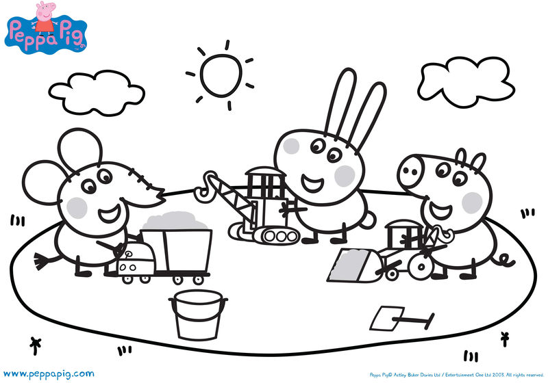 Peppa Pig Play Coloring Pages
