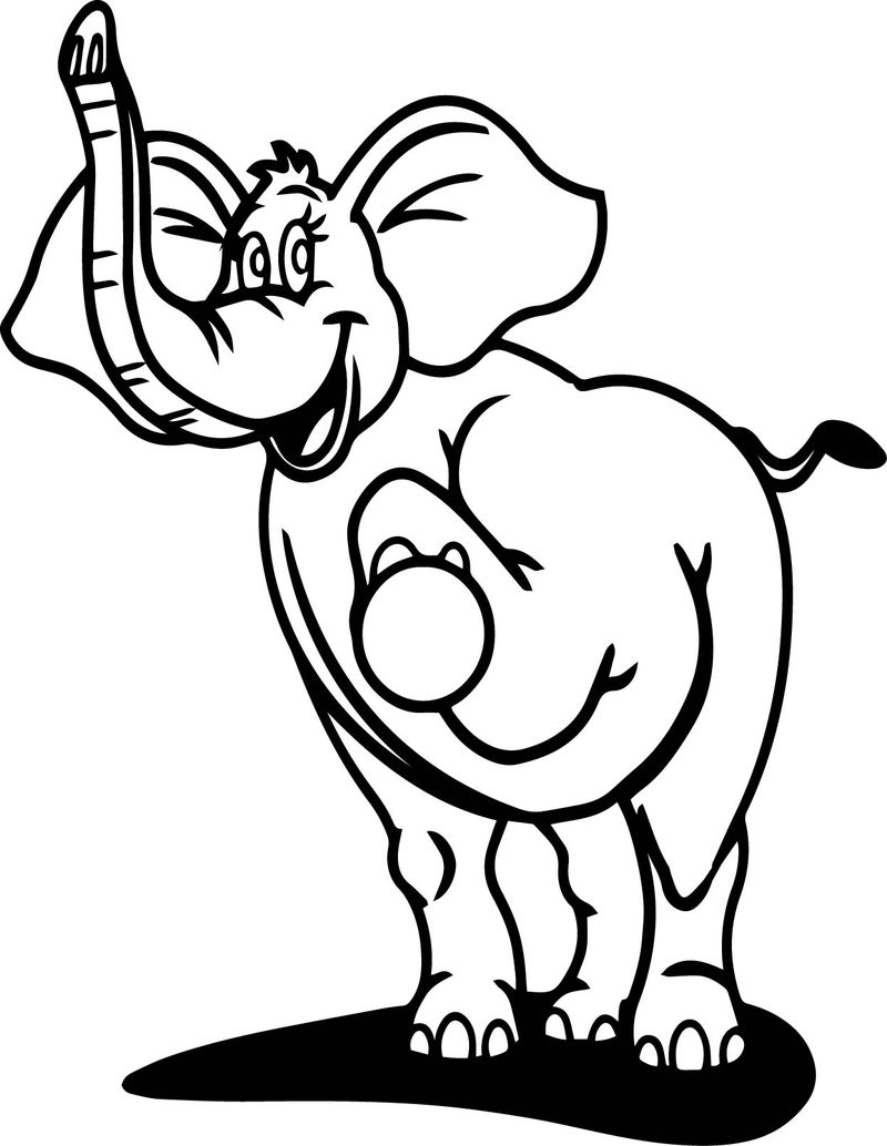Perfect Elephant Coloring Page