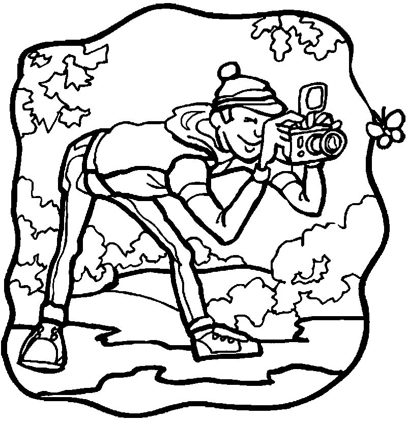 Photo Activity Coloring Page