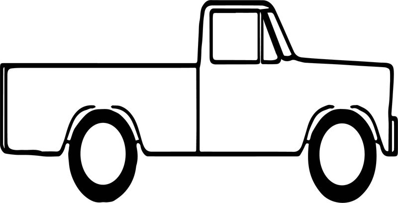 Pickup Truck Side Coloring Page