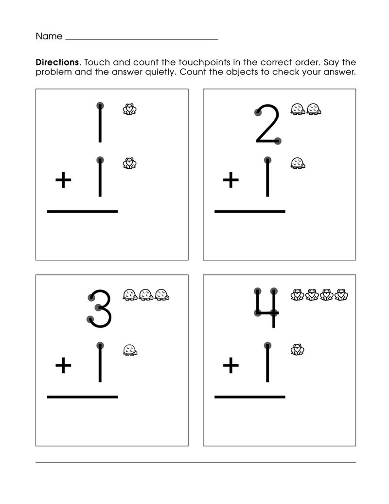 Picture Math Worksheet For Kids