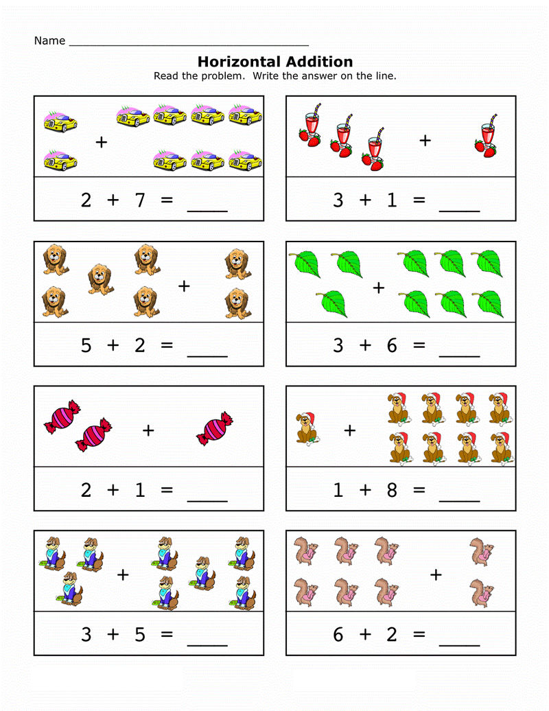 Picture Math Worksheet For Learning