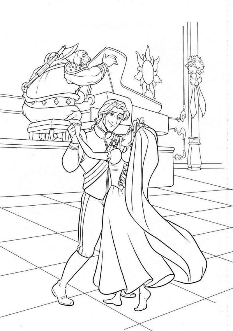 Picture Of Rapunzel To Color