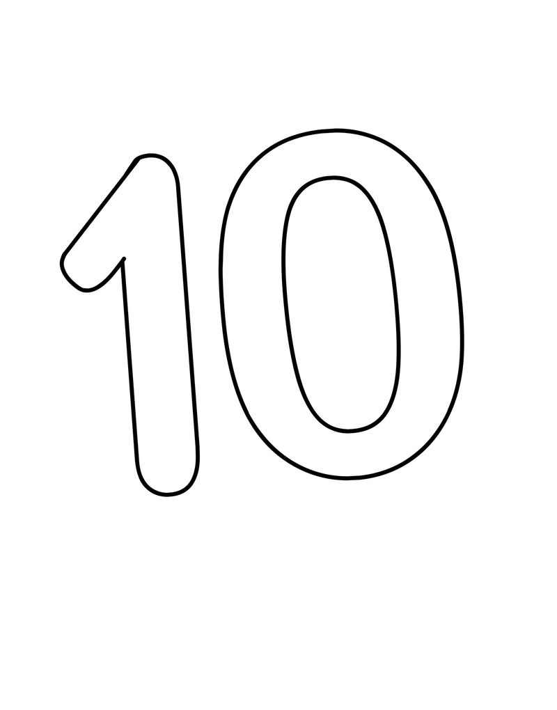 Picture Of Number 10 Free