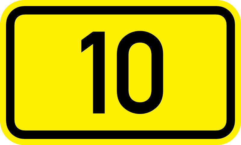 Picture Of Number 10 Yellow