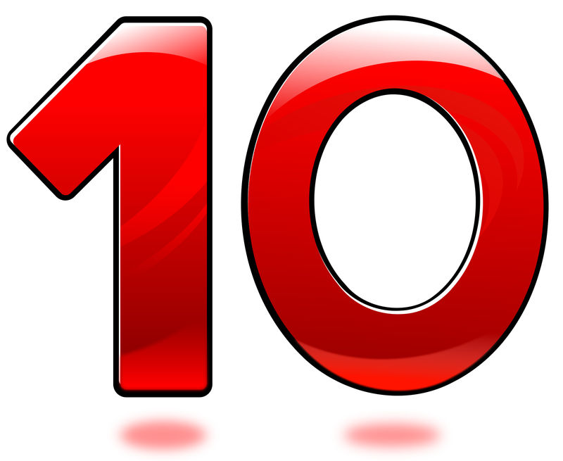 Picture Of The Number 10 Red Color