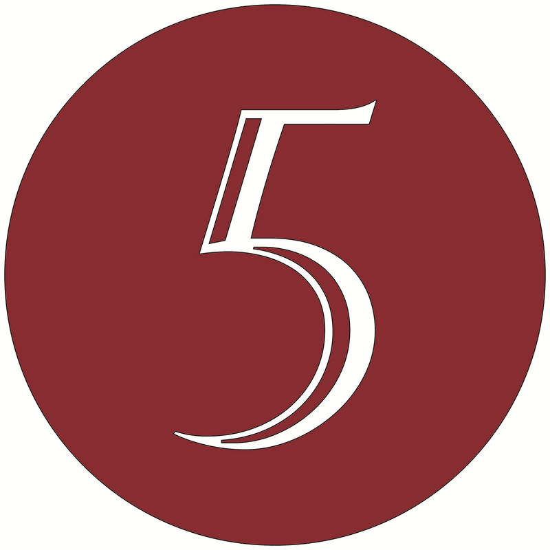 Picture Of The Number 5 Red