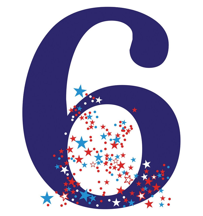 Picture Of The Number 6 Birthday