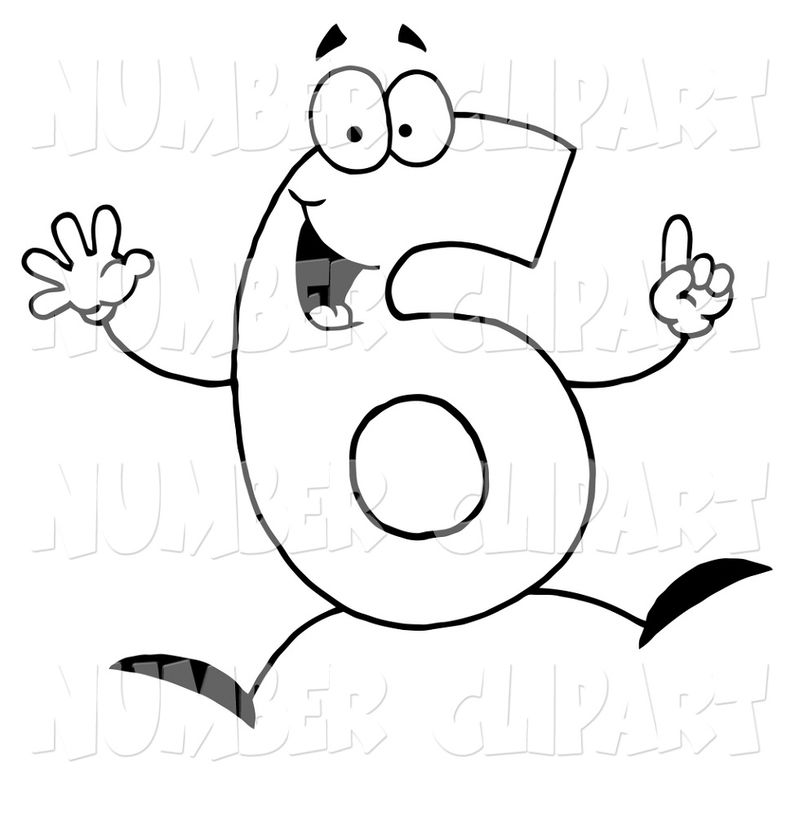 Picture Of The Number 6 Clip Art