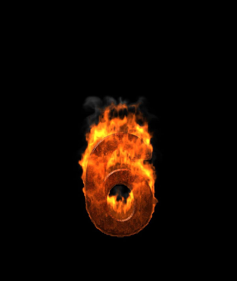 Picture Of The Number 6 Fire