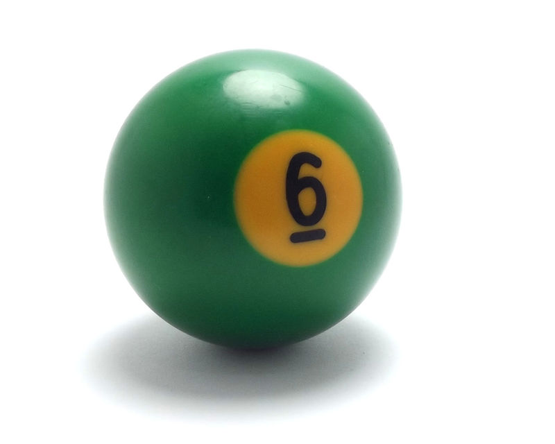 Picture Of The Number 6 Pool Ball
