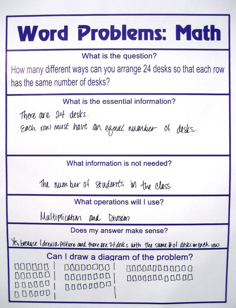 Picture Word Problems For Math