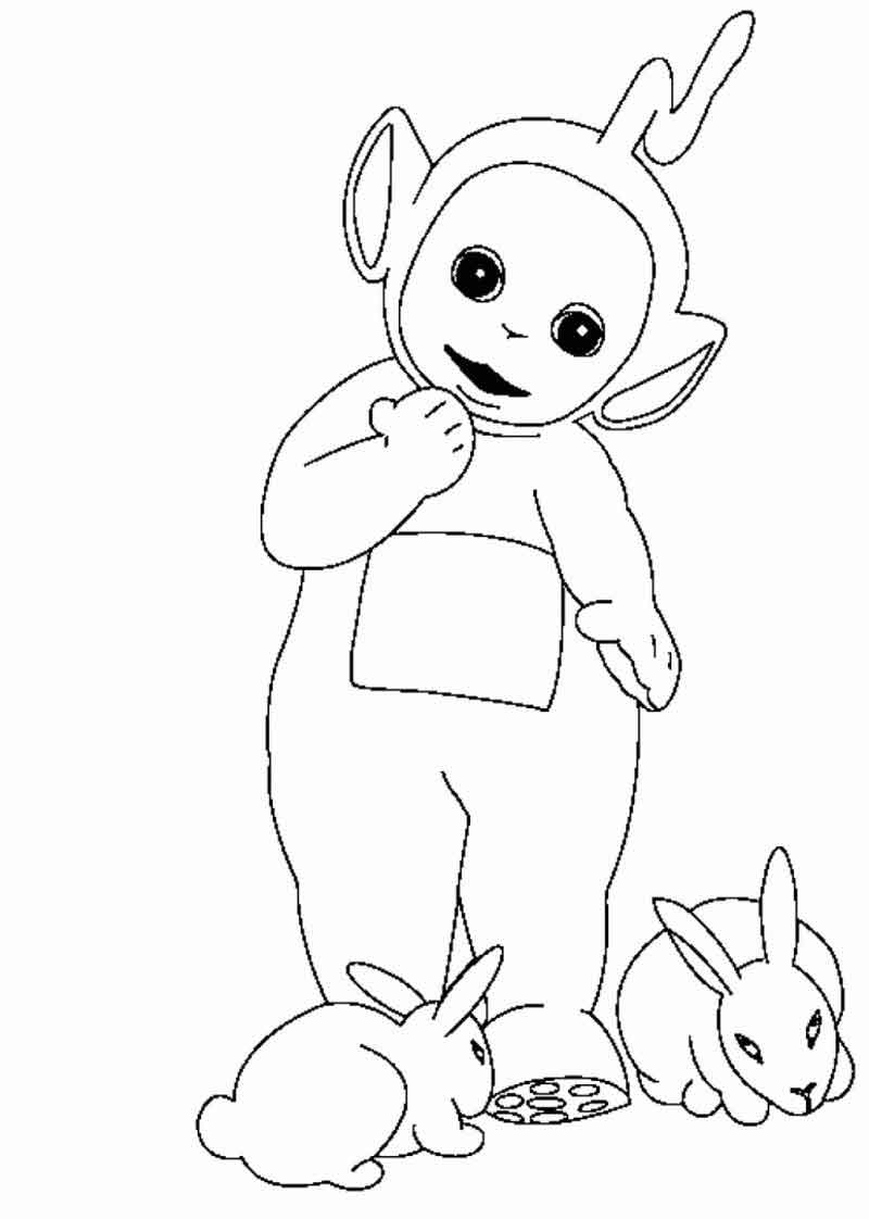 Pictures Of Teletubbies Coloring Pages