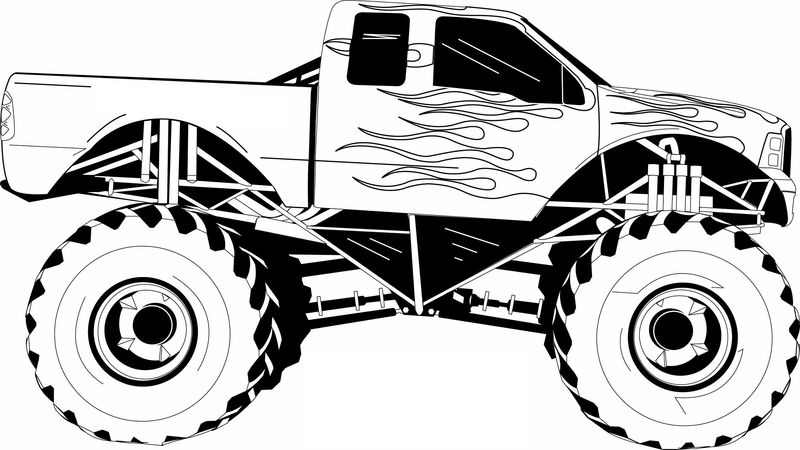 Pictures Of Big Trucks For Kids Monster