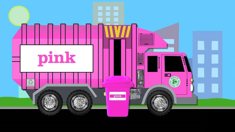 Pictures Of Big Trucks For Kids Pink