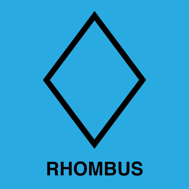 Pictures Of Rhombus Shapes Blue