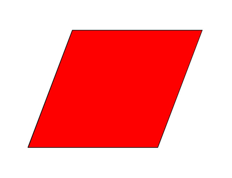 Pictures Of Rhombus Shapes Red Color
