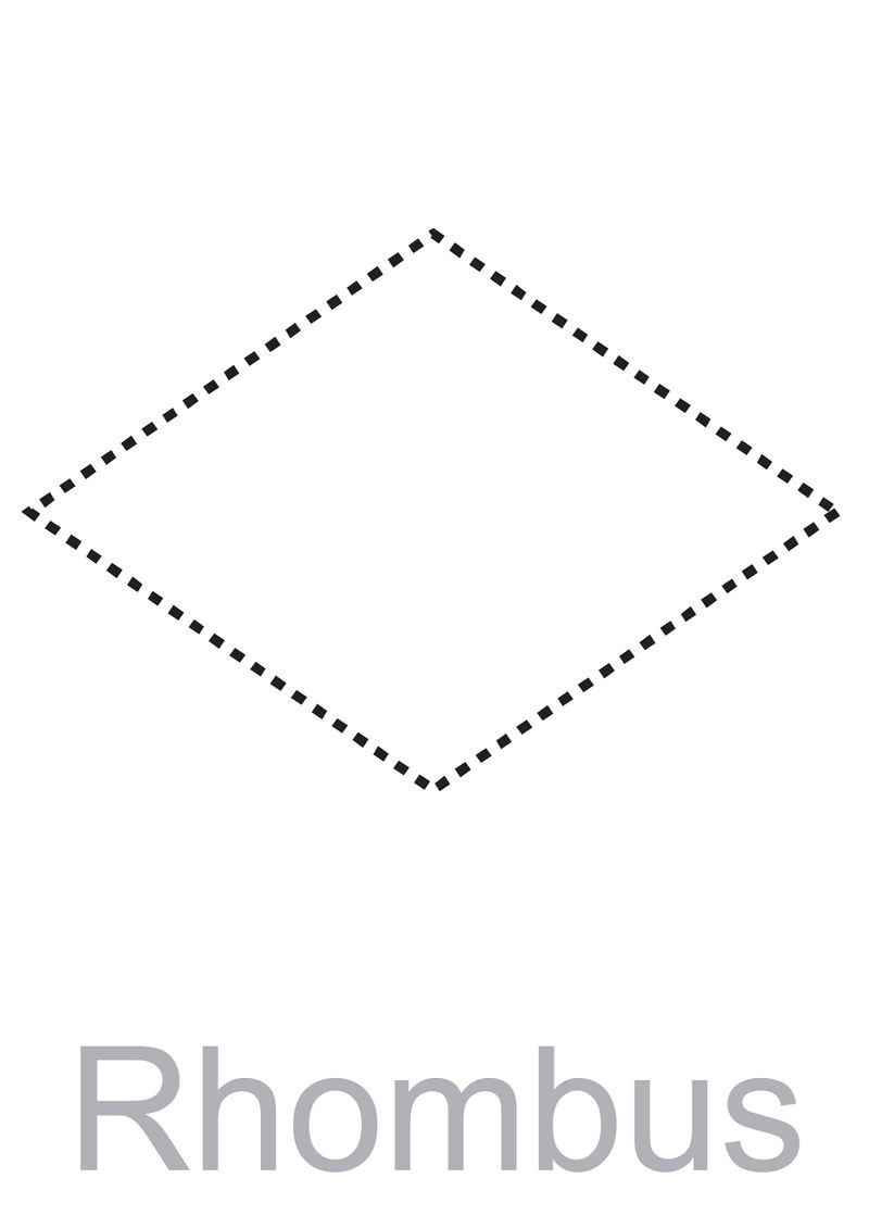 Pictures Of Rhombus Shapes Traceable 001 Free Coloring Pages