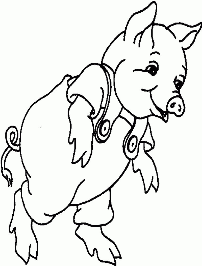Pig Coloring Pages Pictures