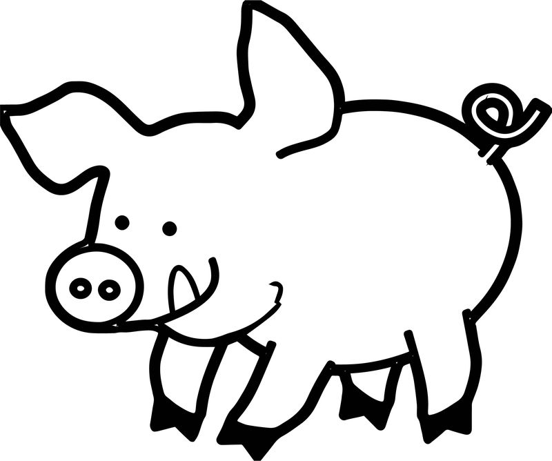 Pig Piglet Coloring Page