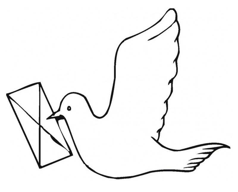 Pigeon Coloring Pages Pictures 001