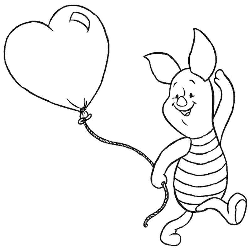 Piglet Coloring Page Printable