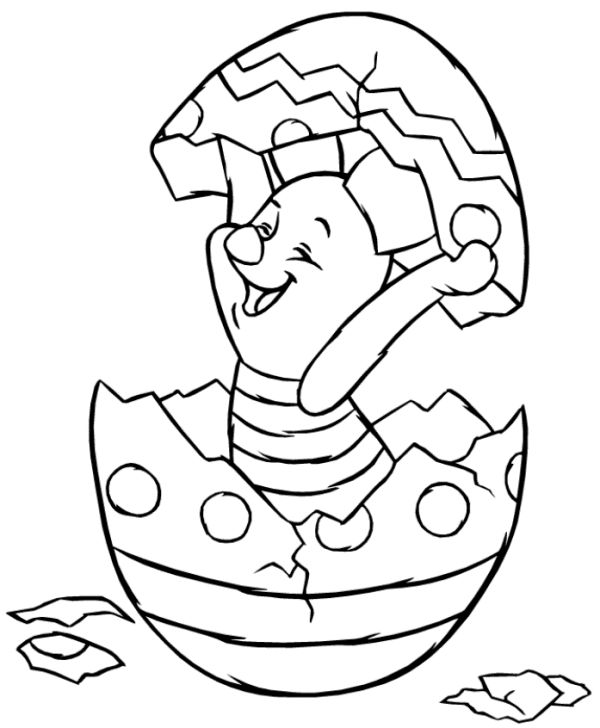 Piglet coloring page free printable